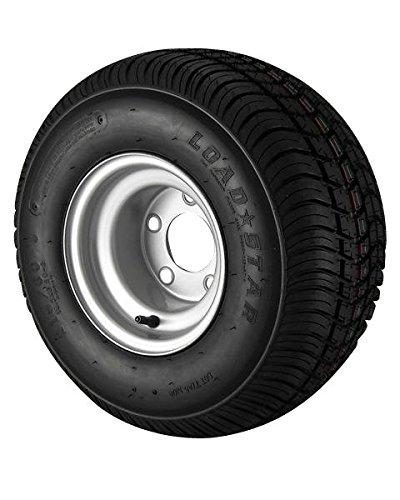 18.5X8.5-8 Loadstar Trailer Tire LRC on 5 Bolt Silver Wheel ()