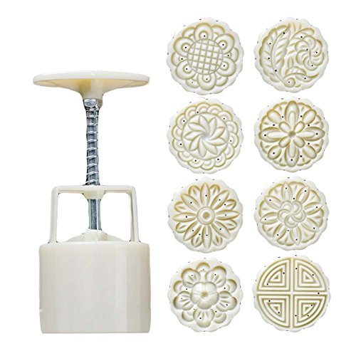 8 Stamps - Plastic Baking Molds - Moon Cake Mold Small Cake Mold