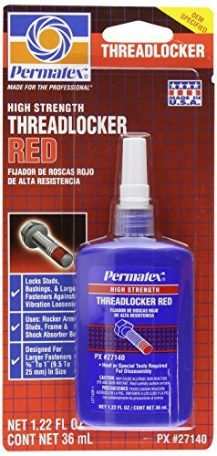Permatex 27140 High Strength Threadlocker Red, 36 ml Bottle by (Threadlocker Red 36 Ml Bottle)