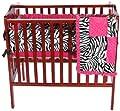 Baby Doll Zebra Minky Port-a-crib Bedding Set Pink by Baby Doll