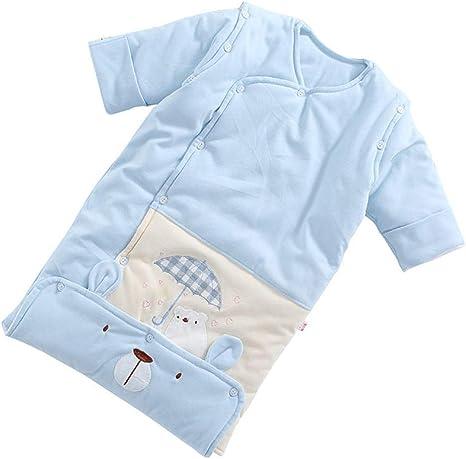 Saco De Dormir Seguro Para Bebés, Algodón De Color, Recién Nacido, Edredón, Algodón, Doble Uso, Bebé, 4 Estaciones, Mangas Desmontables (0-12 Meses): Amazon.es: Bebé