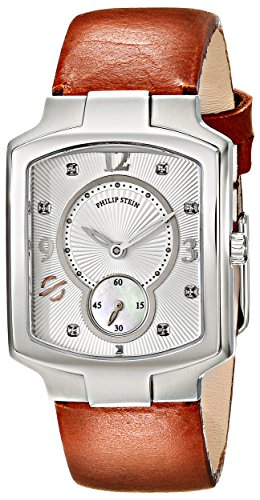 Philip Stein Women's 21-DSIL-CIBR Classic Stainless Steel Watch With Brown Leather Band
