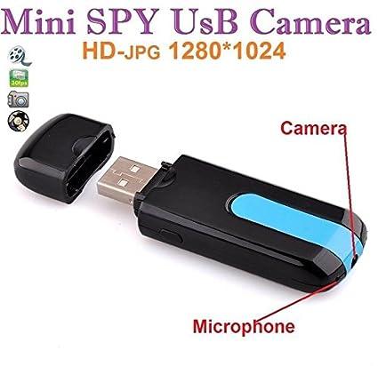 TopTops® Mini USB U8 disco ocultado HD de la cámara espía 720x480 Detector de movimiento