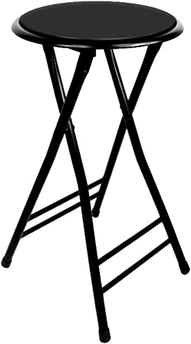 24 Inch Folding Stool Cushioned Holds Up to 250 Pounds – Easy to Store – Skroutz
