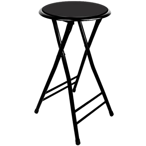 24 Inch Folding Stool Cushioned Holds Up To 250 Pounds Easy To Store Skroutz