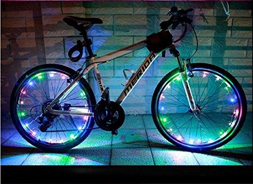 BlueSunshine 6 Pcs 12 Pcs Bright LED Bicycle Bike Mini Spoke Lights Colorful Wheel Lights 3 Color : Red//Blue // Green