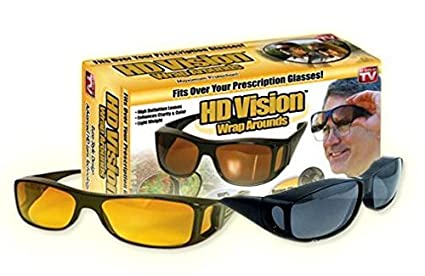 b6bb5e1273 R Dabhi Hd Vision Wrap Around Sunglasses Fits Over Your Prescription Glasses  (2 pc of