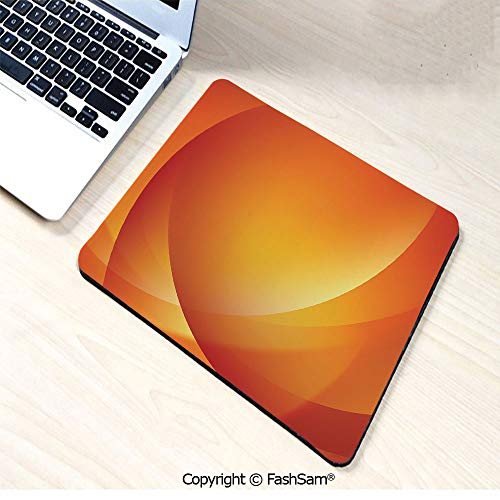 Non-Slip Rubber Mouse Pads Colorful Smooth Twist Lines Sun Abstraction Energy Flow Waves Curves Art Decorative for Computers Laptop Office(W7.8xL9.45)