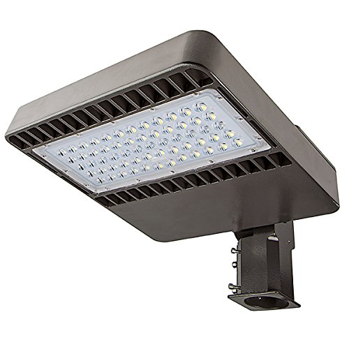 Phenas 48W LED Street Light, Road Lamp, LED Parking Lot Lights Pole LED Outdoor Site and Area Light, Shoe Box Light, 11000L, 4800-5300k, ROHS ETL DLC CE (48 Watts), 5 Years Warranty