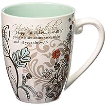 """Mark My Words 66122 Happy Birthday Mug, 4.75"""", 20 oz Capacity, Multicolor"""