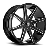 6 lug dub rims - Dub Push 20 Black Milled Wheel / Rim 6x135 & 6x5.5 with a 30mm Offset and a 87.1 Hub Bore. Partnumber S109208597+30