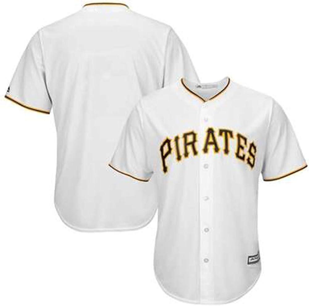 Pittsburgh Pirates Camiseta de béisbol para Hombre Camisa Blanca-Uniforme de Entrenamiento Unisex Camiseta de Atleta Ropa de partidario Malla de Secado rápido Ventiladores de Manga Corta Sudadera-WH: Amazon.es: Ropa y accesorios