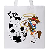 Inktastic - I'm Six-cowboy riding horse birthday Tote Bag White 2ca2d