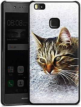 Huawei P10 Plus Carcasa Case Funda Móvil gato cat gatito: Amazon ...