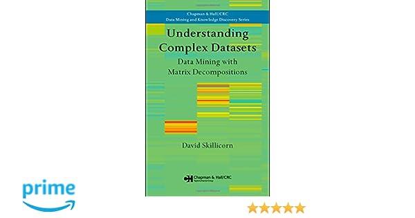 Amazon com: Understanding Complex Datasets: Data Mining with Matrix