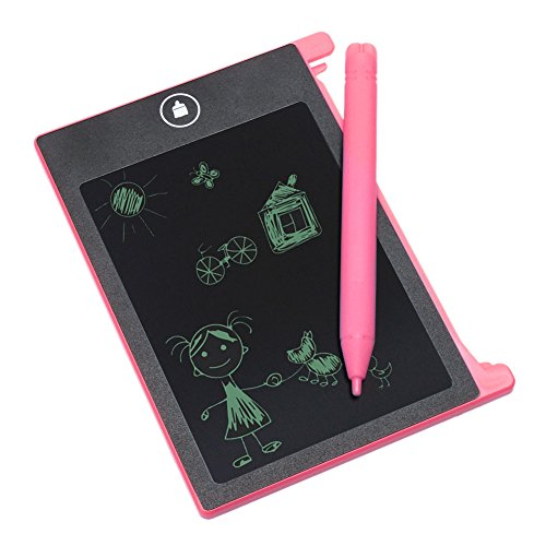 Price comparison product image EZLIZE Handy 4.4 Inch LCD Writing Tablet Portable Erase Pad Mini Electronic Notepad Pocket Graffiti Drawing Board Practice Spelling Painting Handwriting Blackboard Ewriter (red)