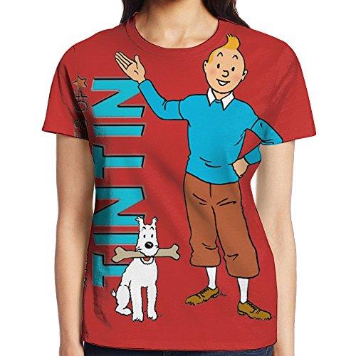EEADGSDCB Young Tintin - Tintin - T-Shirt Teepublic 1 Women'sPrinted Pullover Casual Tees T-Shirt Relaxed Tees Small
