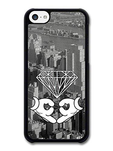 White Gloves Sign New York Diamond Skyline Stylish coque pour iPhone 5C