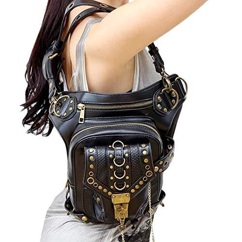 Steampunk Talla de diseño Black1 Qiu negro para Bolso Bandolera Vintage Mujer única Fw0UCZg