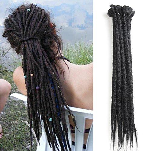 Dreadlocks Extension 20 Inch 12 Strands Handmade Dreads Synthetic Dreadlocks Crochet Braiding Hair Soft Faux Locs Fashion Reggae Hair - Strand Crochet Double