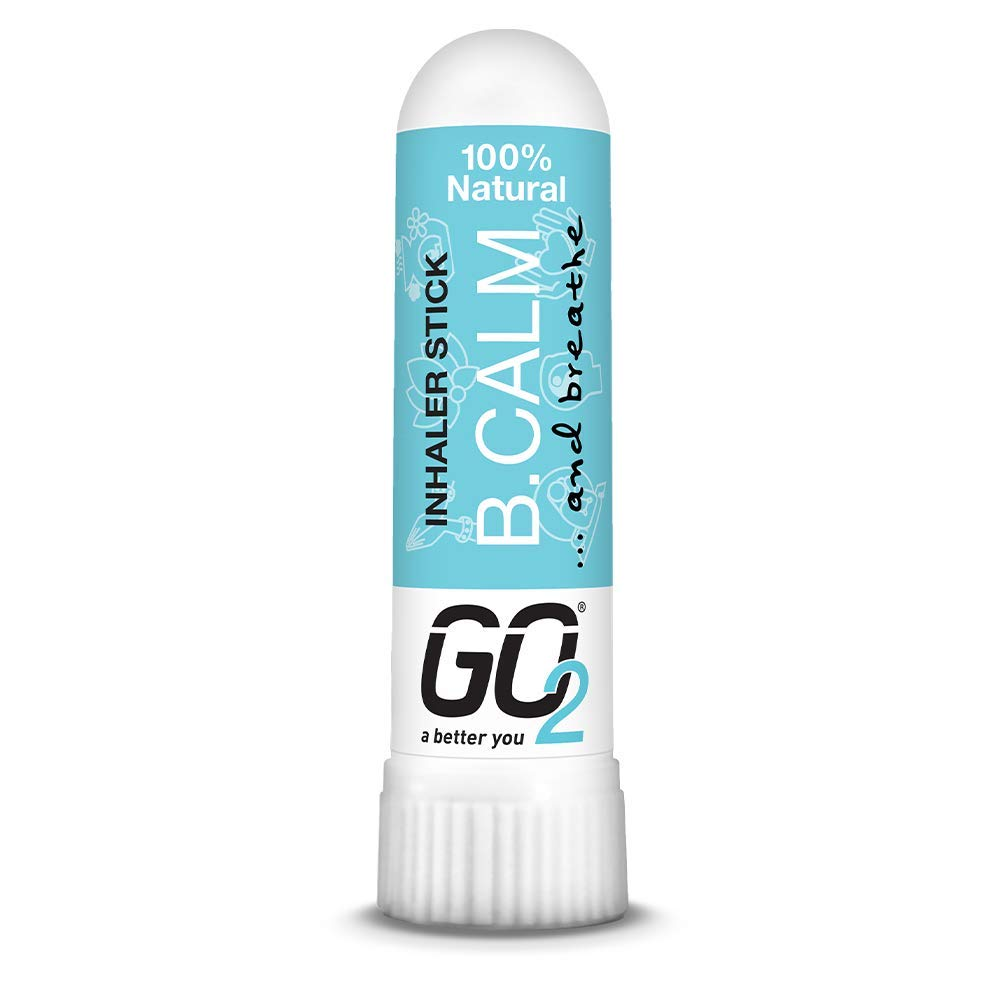 GO2 Inhaler B. Calm Stick — Essential Oils for Convenient On-The-Go Use — 100% Natural, Synthetic-Free and Cruelty-Free (1ml Tube)