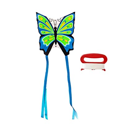 BESPORTBLE Kids Lightweight Butterfly Kite Flying Toys Bright Color Kite Games Supplies with Cord for Park Garden: Sports & Outdoors
