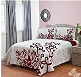 Baccara Red Wine Style Lightweight Bedspread Coverlet 3 Piece King