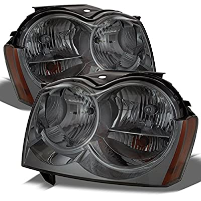 Jeep Grand Cherokee Replacement Headlights Driver/Passenger Smoked Head Lamps Pair New