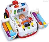 Ambulance with Various Medical Equipment Baby Preschool Learning Toys , Rescue Vehicle With Medical Lights Music and Driver Doctor and Patient, Exercise Kids to rescue the patient 836