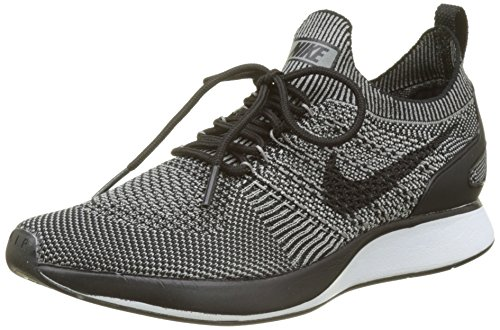 Nike Men Air Zoom Mariah Flyknit Racer Trainers Grey (Light Charcoal/Light Charcoal-black-black)