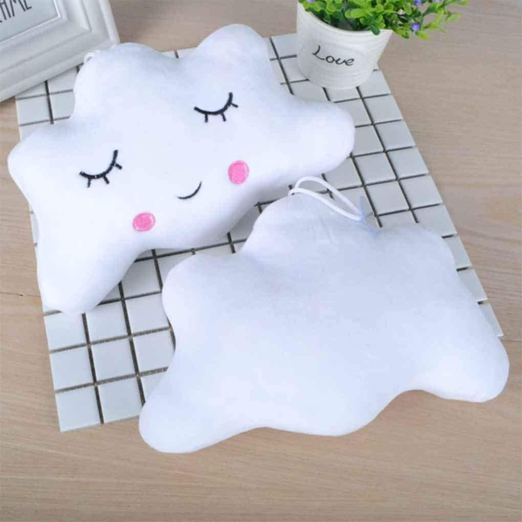 Aiming Lady Girls Women Moon Star Cloud Shape Emoticon Short Plush Throw Pillow Nap Pillow Cute Dolls Pendant #1