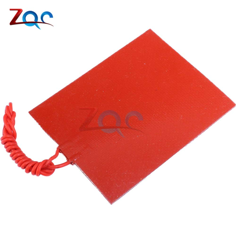 12W 25W Silicone Rubber Heating Panel Constant Temperature Heater Plate 12V