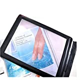 Zorvo New A4 Full Page Large Sheet Magnifier Magnifying Glass Reading Aid Lens Fresnel,easy for carrying,carving handicrafts, sewing, knitting