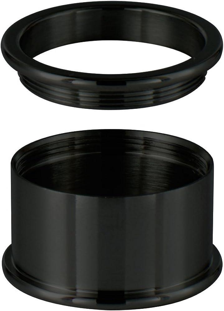 Quiges Bague de Base en Acier Inoxydable 10mm Hauteur pour la Collection dAnneaux Empilables
