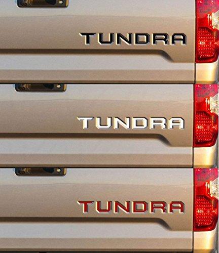 toyota tundra tailgate letter Vinyl sticker (BLACK) (Tundra Gates)