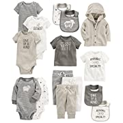 Carter's Baby 15-Piece Basic Essentials Set, Sheep, 9 Months