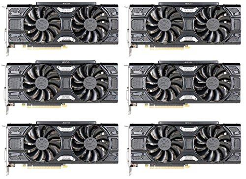 6 pack of EVGA GTX 1060 6GB Black Mining GPU