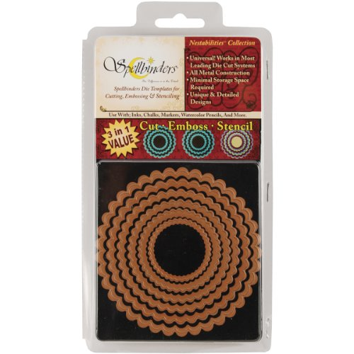 Spellbinders S4-115 Nestabilities Large Petite Scalloped Circles Die Template