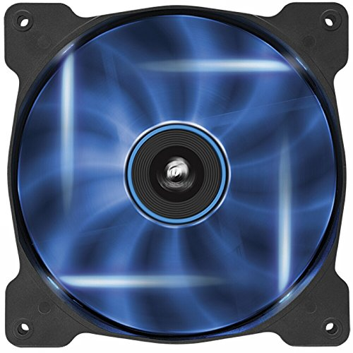 Corsair Air Series AF140 CO-9050017-BLED 140mm 1500 rpm Quiet Edition High Airflow Fan (Blue LED) (Plastic Led Computer Case)