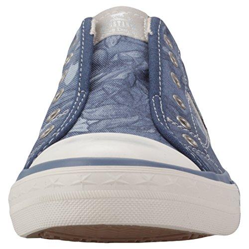 Bleu dunkelblau 1146 Enfiler Baskets Mustang 800 Femme 800 402 H6wPf