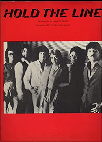 Hold The Line Original Sheet Music As Recorded By Toto On Columbia