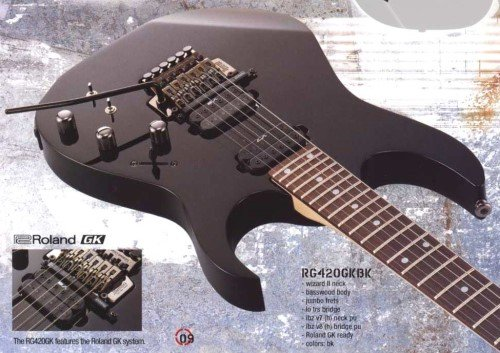ibanez rg420gkbk series electric guitar with roland gk synth import it all. Black Bedroom Furniture Sets. Home Design Ideas