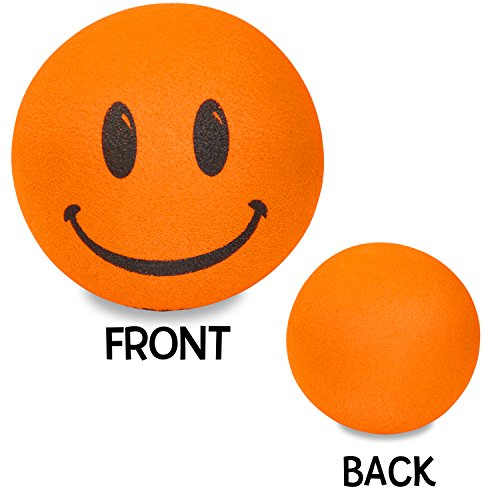 - Tenna Tops - For Thick Style Antenna: Orange Smiley Happy Face Car Antenna Topper - Antenna Ball - Rear View Mirror Dangler - Auto Accessory