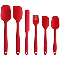Silicone Spatula set 6pcs - Seamless Rubber Spatulas 500°F Heat Resistant with Stainless Steel Core, Kitchen Utensils…