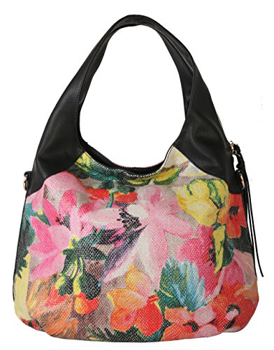 rimen-co-fashion-ladies-floral-pu-leather-slouchy-hobo-bag-handbag-black