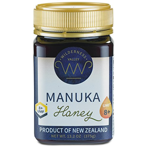 New Zealand Manuka Honey By Wilderness Valley (UMF 8+) 13.2 oz Jar, Sustainably Produced on High Country Farm, Pure & Natural
