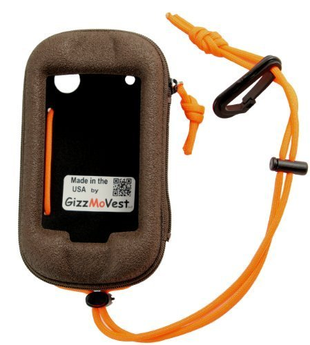 Garmin Montana 650t 650 600 Heavy-Duty Case in 'Hunter's Coffee' w/ Cord Loop & Lanyard w/Clip. MADE IN THE USA. Search 'GizzMoVest' for all colors. by GizzMoVest LLC