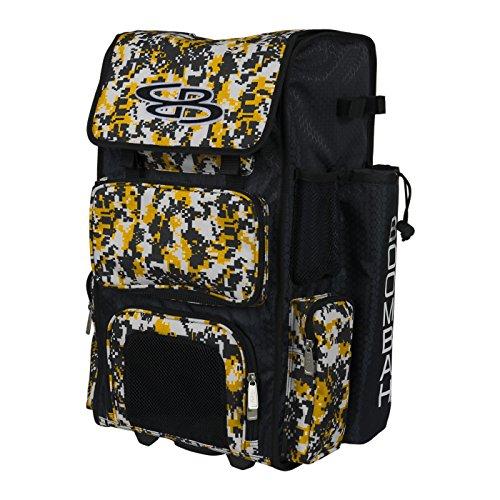 Gold Youth Baseball Bat - Boombah Rolling Superpack Baseball / Softball Gear Bag - 23-1/2