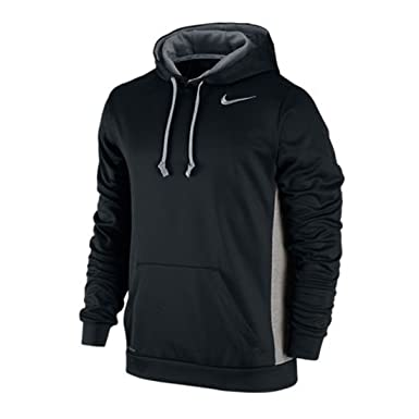 NIKE Men's KO Hoodie 3.0 Black/Dark Grey Heather/Cool Grey Size XX-