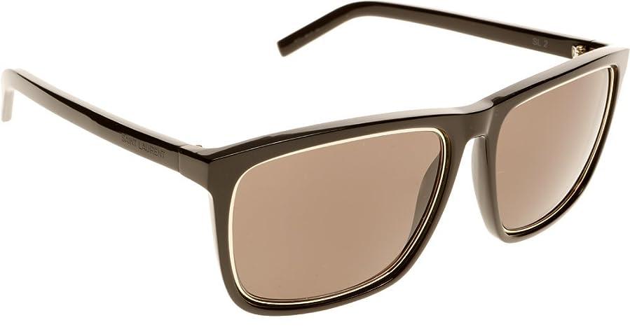 39e58cfbdb00 Amazon.com: Yves Saint Laurent Sl 2/S Sunglasses-0807 Black (EJ ...